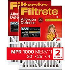 Filtrete 2 Pack Allergen Reduction Electrostatic Pleated Air Filters  Common  20 in x 25 in x 4 in  Actual  19 75 in x 24 4375 in x 4 in