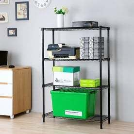 Style Selections 53 in H x 35 7 in W x 14 in D 4 Tier Steel Freestanding Shelving Unit