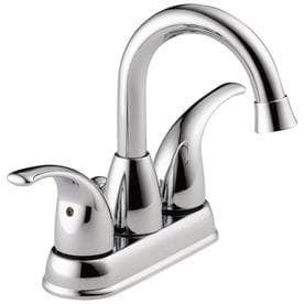 Peerless Tempo Chrome 2 handle 4 in Centerset Bathroom Sink Faucet