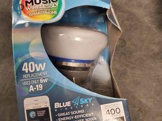 Blue Sky Wireless led Bluetooth Smart Sync Bulb   Speaker 40w Energy Efficie