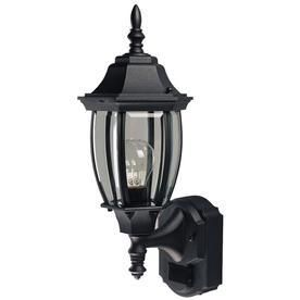 Secure Home Alexandria 18 5 in H Black Motion Activated Outdoor Wall light