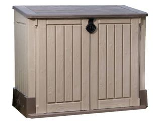Keter Store It Out Midi 30 Cu Ft Resin Storage Shed  All Weather Plastic Outdoor Storage  Beige Taupe