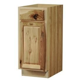 Kitchen Classics Denver 15 in W x 35 in H x 23 75 in D Finished Hickory Door and Drawer Base Cabinet