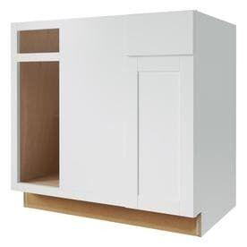 Diamond NOW Arcadia 36 in W x 35 in H x 23 75 in D TrueColor White Blind Corner Base Cabinet