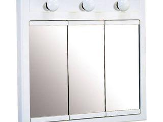 Design House 532374 Concord lighted Medicine Cabinet Mirror 24  White
