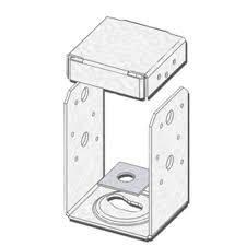 Box Of 12  Contractor Pack Mitek 4x4 Galvanized Post Anchors Pau44 tz
