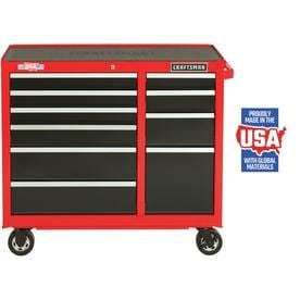 CRAFTSMAN Heavy Duty 41 in W x 37 5 in H 10 Drawer Ball bearing Steel Tool Cabinet  Red