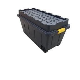 Centrex Plastics  llC Commander 64 Gallon Black Tote with latching lid