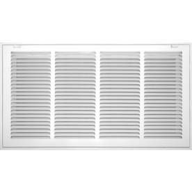 Accord Filter Grille 25 in x 14 in White Steel louvered Sidewall Ceiling Grilles
