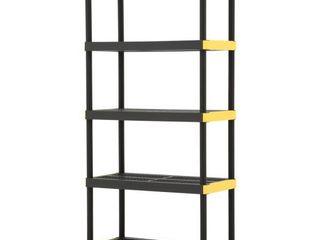 Plastic stackable shelves