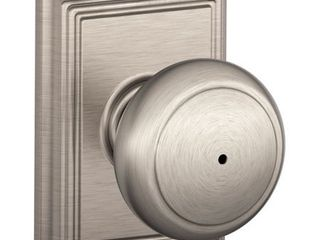 Schlage F40AND619ADD Addison Collection Andover Privacy Knob  Satin Nickel