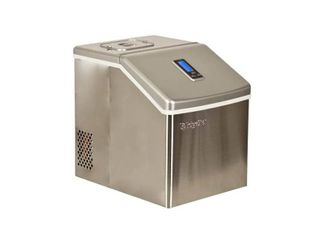 EdgeStar IP211 Stainless Steel 11in Wide 2 2 lbs  Capacity Portable Ice Maker with 20 lbs  Daily Ice Production