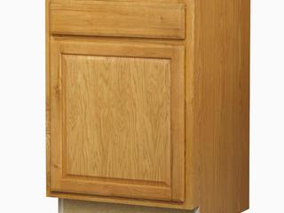 Natural Oak Base Cabinet  24 wide x 24 deep