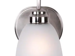 Project Source Wynfield 1 light Nickel Traditional Vanity light