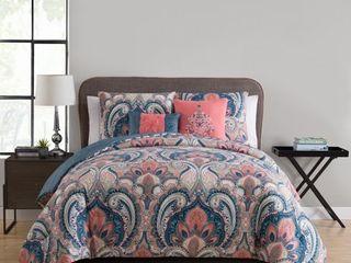 Porch  amp  Den Ustick Reversible 5 Piece Comforter Set   King