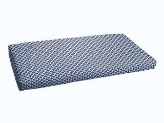 Navy Chainlink Abstract Indoor  Outdoor Bristol Bench Cushion Retail 99 49
