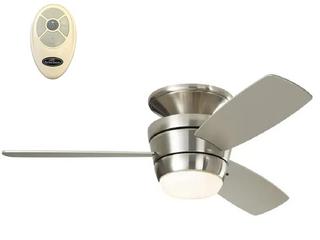 MAZON Brushed Nickel Finish Ceiling Fan