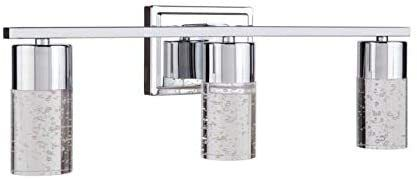 Allen roth Dunwynn 3 light Chrome Modern Vanity light