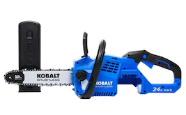 Kobalt 24v Max Brushless Cordless 12 inch Chainsaw 1447232 W  Battery  amp  Charger