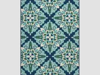 Kaia Indoor  Outdoor Floral Area Rug by Christopher Knight Home
