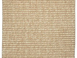 Jani lhasa Natural Tan and Beige Wool and Jute Rug   4 x 6 ft Retail 142 49