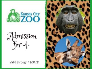4  Tickets for Admission to the Kansas City Zoo