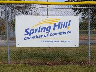 Sign advertising your Company Organization at SHRC Ball Fields
