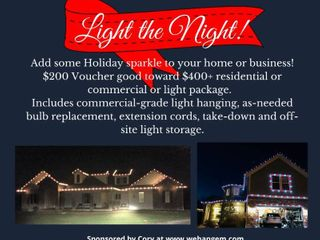 Holiday light Hanging Voucher