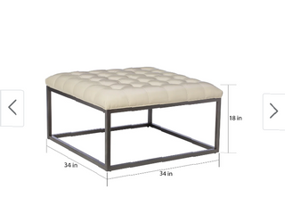 Strick   Bolton Healy leather Tufted Ottoman