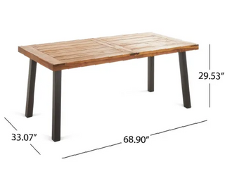 Tustin Outdoor Acacia Wicker Dining table by Christopher Knight Home
