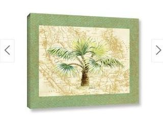 ArtWall  Janet Kruskamp s Palm Tree I  Gallery Wrapped Canvas   18x24