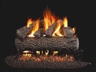 Standard Post Oak Gas logs   20 inch