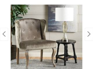 Niclas Velvet Wingback Chair by Christopher Knight Home   Grey