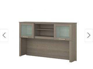 Copper Grove Shumen 60 inch Hutch for l shaped Desk   59 09 l x 12 50 W x 35 69 H   59 09 l x 12 50 W x 35 69 H   Grey