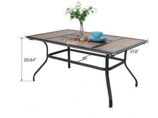 MFSTUDIO large Rectangular Wood like Top Table