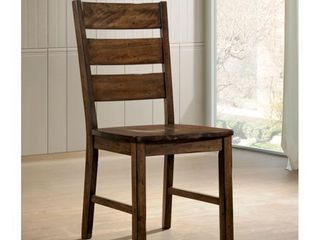 Furniture of America Mass Rustic Walnut Dining Chairs  Set of 2    Retail 184 49