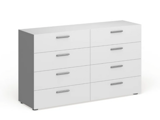 Porch   Den Angus Space saving Foiled Surface 8 drawer Double Dresser