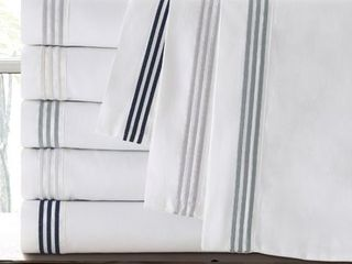 Eider   Ivory Althea 300 Thread Count 100pct Cotton Sheet Set   Cal  King
