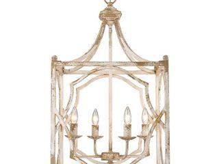 laurent 4 light Pendant in Antique Ivory  Retail 302 00