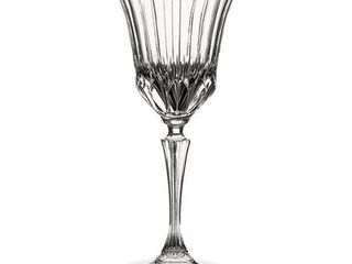lorenzo Adagio Collection Clear Crystal Wine Glasses  Set of 6