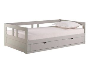 Melody Expandable Twin to King Trundle Daybed with Storage Drawers   Retail 497 00