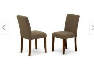 Parson Chairs in Coffee linen Fabric  Number of Chairs 2 Option  Retail 432 99
