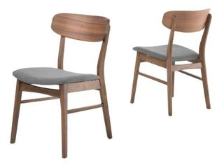 Christopher Knight Fabric upholstered Wood Dining Chairs  Set of 2  Retail 179 99