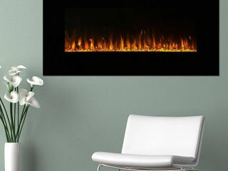 Northwest 36 inch Wall Mounted Electric Fireplace  lED Fire and Flame Effect