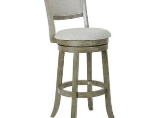 Swivel Stool 30  with Solid Back in Antique Grey Finish