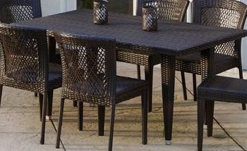 Dusk Outdoor Dining Table Only by Christopher Knight Home  Retail 915 99