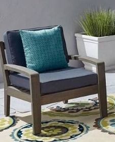 Grenada Outdoor Acacia Wood Chair only by Christopher Knight Home  Retail 997 49