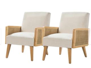 1 Carson Carrington Upholstered off white Chair