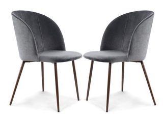 EdgeMod Kantwell Velvet Dining Chair  Set of 2    Retail 173 99