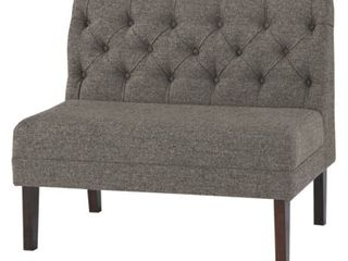 Tripton large Upholstered Dining Room Bench   Graphite   Retail 246 99